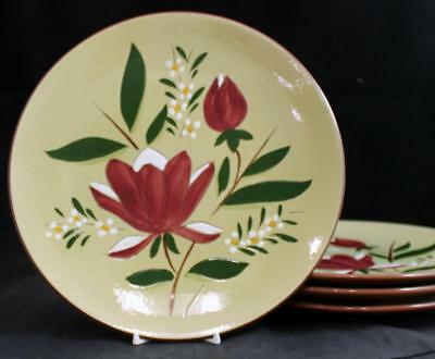 Stangl MAGNOLIA 4 Dinner Plates GOOD CONDITION mfg 2nds
