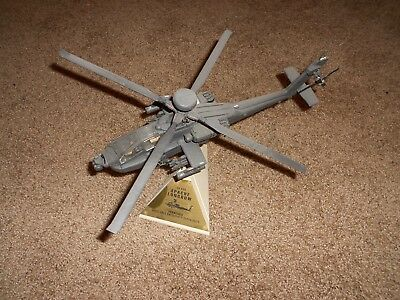 Franklin Mint Armour Boeing AH64D Apache Longbow Helicopter Diecast Model 1:48