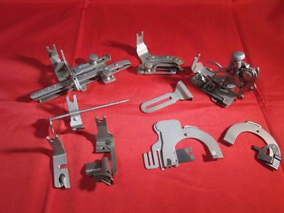 Group Of  Vintage Singer Sewing Machine Back Clamp  Attachments Rear Mount Rust