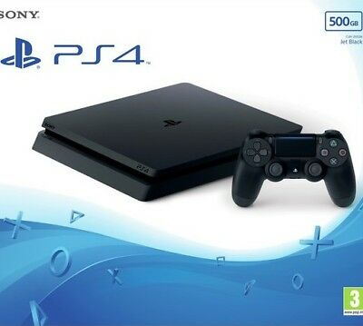 Console Playstation 4 Da 500 Gb - Sony Ps4 - Nera - Slim - Nuova -Sottocosto
