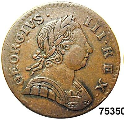 ***Authentic American Revolutionary War Coin 1775 1st Year of War (75350CVS In #
