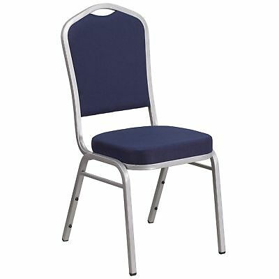 HERCULES Series Crown Back Stacking Banquet Chair With Fabric And 2.5-inch Seat