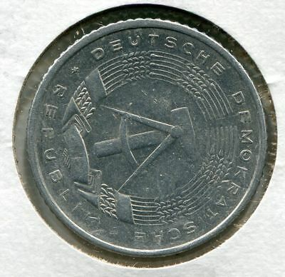 German Democratic Republic (East Germany) 50 Pfennig 1981A 80 Degree Rotated
