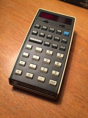 "Hewlett Packard HP 21 ""Pumpkin"" Vintage Scientific Calculator Taschenrechner"