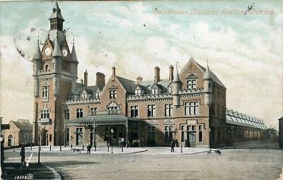 Printed Postcard Caledonian Ralway Station, Dundee, Angus, Scotland, Valentines