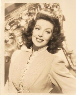 Movies Star Actress Loretta Young Original Photo Paramount Pictures 1946
