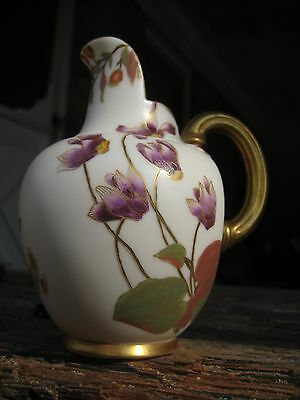 ANTIQUE ROYAL WORCESTER CERAMIC JUG WITH FLORAL SPRAYS, BASE No 1094, C 1891