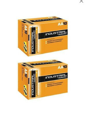 20x Duracell AA Industrial Alkaline Batteries 1.5V LR6 MN1500 Procell 2023 exp.