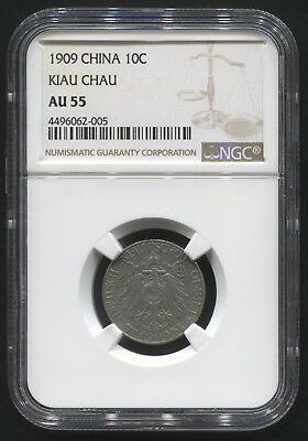 1909 10C China Kiau Chau NGC AU 55