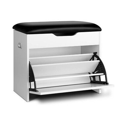Shoe Cabinet With Padded Seat  FREE SHIPPING