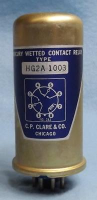 C.P. CLARE HG2A-1003 VINTAGE MERCURY WETTED CONTACT RELAY  2-pcs Available