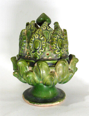 "Excellent Chinese ""han-lu-yao"" green glaze pottery Bo-shan-lu or incensory"