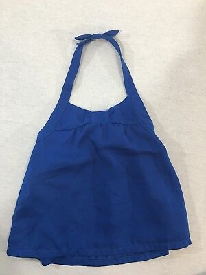 EUC Janie And Jack Baby Girl Blue Halter Top 18-24 Months
