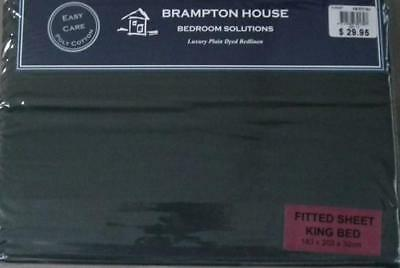 Brand New BRAMPTON HOUSE Forest Green King Bed Fitted Sheet 180 TC FREE POSTAGE