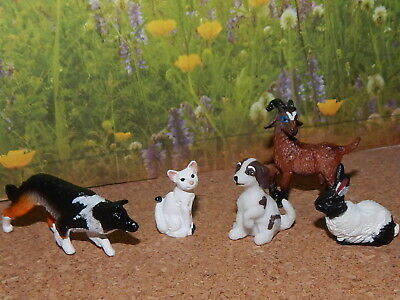 Breyer Stablemate Assortment Of Farm Animals, Dog, Cat, Goat, Rabbit& Collie Dog