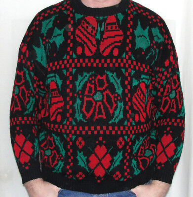 Vintage HIDEOUS UGLY CHRISTMAS EXPLOSION Party Sweater Mens XL Womens 1X WINNER