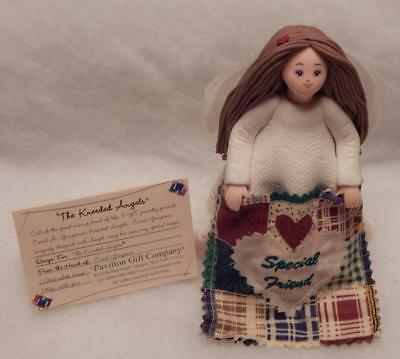 "Kneeded Angels Friendship,  5"" Doll With Friendship Quilt, Special Friend"