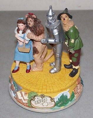 "Nice!! San Francisco Music Box ""WIZARD OF OZ"" 4 Characters MUSICAL BOX Figurine"