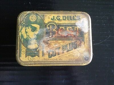 "Dill's Best  Tobacco Tin ""early example"""