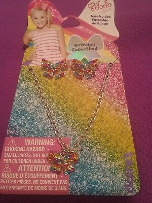 JoJo Siwa Bow Earring 🎀 Necklace Set ~ Birthday Collection Cute! FREE SHIP