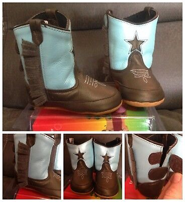 New Old West poppets toddlers sz 4 western fringe boots