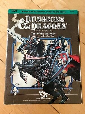 D&D CM1 Adventure - Test of the Warlords - TSR 1984 - Rare!