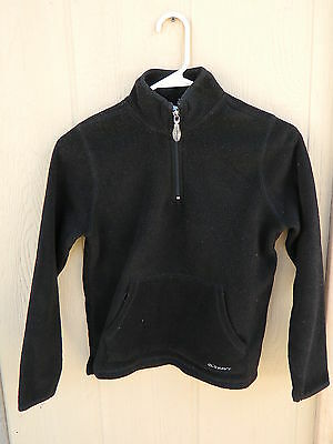 Youth Kids Old Navy 1/2 Zipper Fleece Jacket - Black - Size 12 - Used