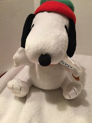 2010 United Feature Gemmy Industries Snoopy Sign Hat Christmas Holiday