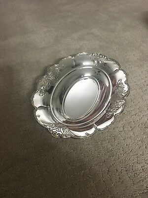 Silver Plate Oval Vegatable Serving Bowl