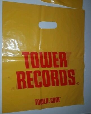 """Tower Records  bag  discontinued  out of business NOS 18""""×15"""""""