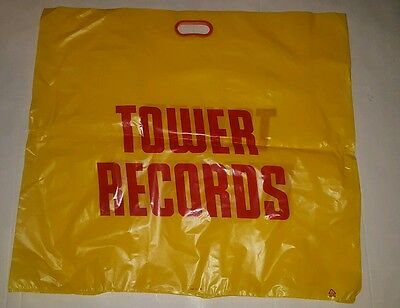 """Tower Records  bag  discontinued  out of business NOS 27""""×30"""""""