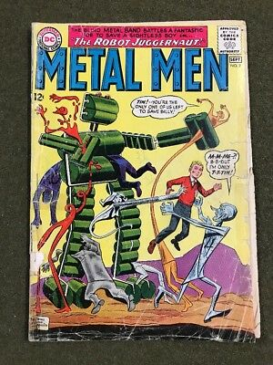 METAL MEN #9 SILVER AGE DC COMIC ~ Lower Grade See Pictures