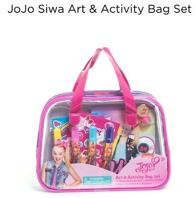 Jojo Siwa 🎀🌈 Activity Art Craft Markers Stamps Stickers Bag Book Rainbow