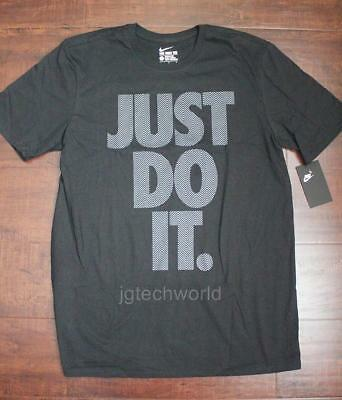3a797ae202 NEW MEN NIKE Just Do it Tee T-shirt Crew Neck Top Short Sleeve Graphic z  Large L