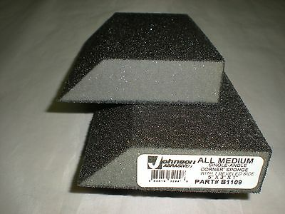 Sanding Sponge Drywall Finishing Johnson Abrasives 'Angle' Lot of 2