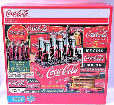 NEW ~ Coca-Cola Evergreen 1000 Piece Photomosaic Jigsaw Puzzle By Buffalo Games