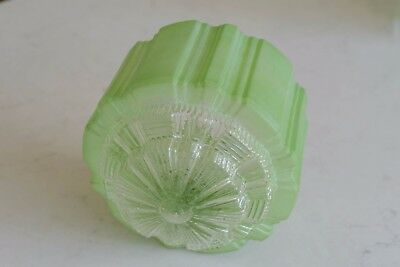 original vintage art deco green jelly mould light shade