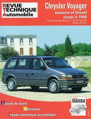 Revue Technique Automobile - Chrysler Voyager - Essence et Diesel - Avant 1996
