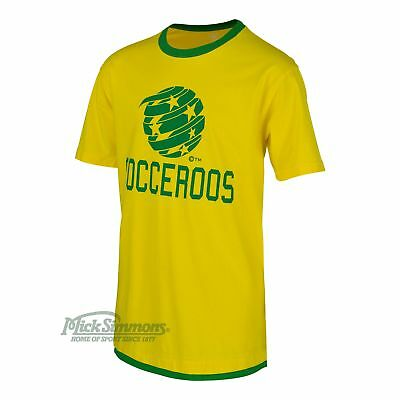 NEW Socceroos Gold Logo Double Hem Kids Football Shirt by Wes & Willy