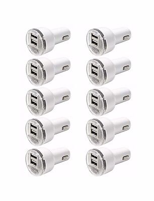 10 Pack Dual USB Port Car Charger Adapter 2.1A For iPhone LG HTC Samsung Phone