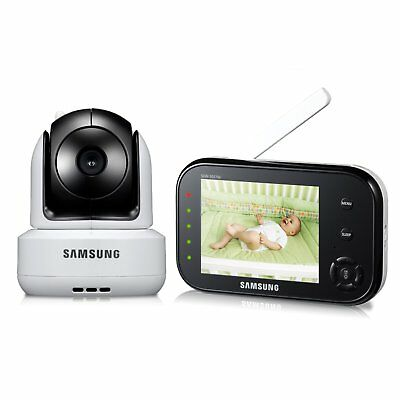 Samsung SEW-3037W SafeVIEW Baby Monitoring System IR Night Vision PTZ 3.5 Inch