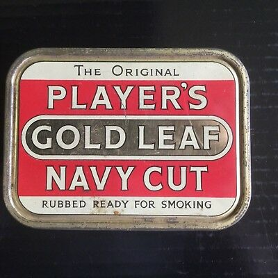 "Player's "" Gold Leaf "" Tobacco Tin"