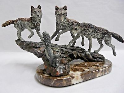 Kitty Cantrell Stink Bomb Wolves Skunk Legends 1994 Bronze Sculpture