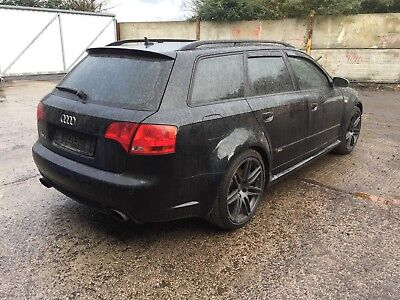 2007 Audi Rs4 Avant B7 Black Optics Damaged Repairable Salvage Not Recorded