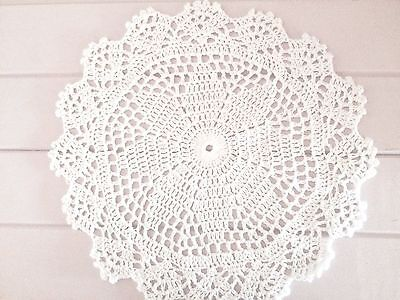 25 Cm New White Crochet Lace Doily