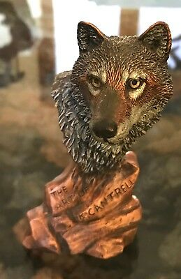 Wolf Sculpture ~ The Art of Kitty Cantrell 1993 Legends Gallery.