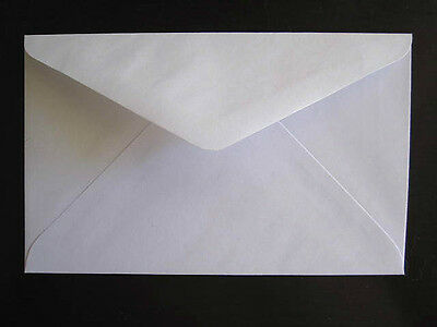 50 X WHITE ENVELOPES - 130 X 188mm