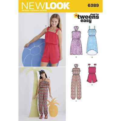 New Look Sewing Pattern 6389 Girls Easy Jumpsuit, Romper and Dresses