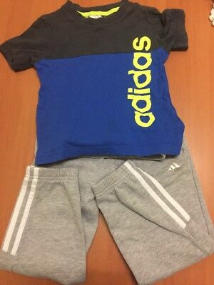 Adidas Track Pant And T Shirt For Boys
