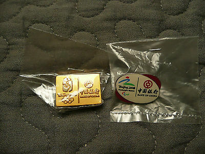 2 Pins Bank of China Olympische Spiele 2008 Peking